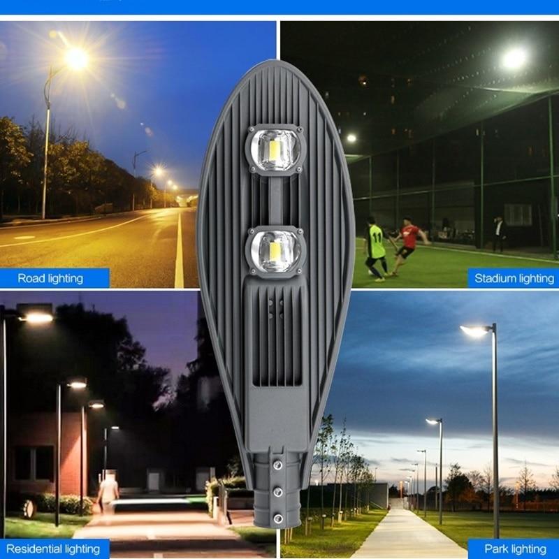 LED Street Light 30W 50W No Solar Street Light AC85-265V Off Road Led Street Lamp Plaza Eclairage Led Exterieur Outdoor IP65 4