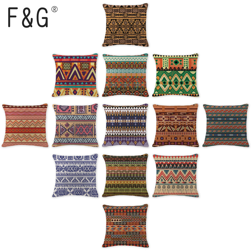 Creative Toss Pillow Kilim Cushion Case Oriental Wedding 17.7Inch Cotton Linen Gifts For Students Printing Pillows