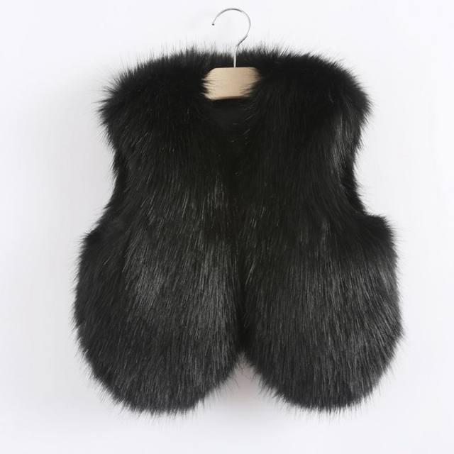 58fb61132 Online Shop infant toddler little baby girls fur vest fashion ...