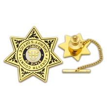 Hard Enamel Badge with Long Needle custom metal  Material badges color