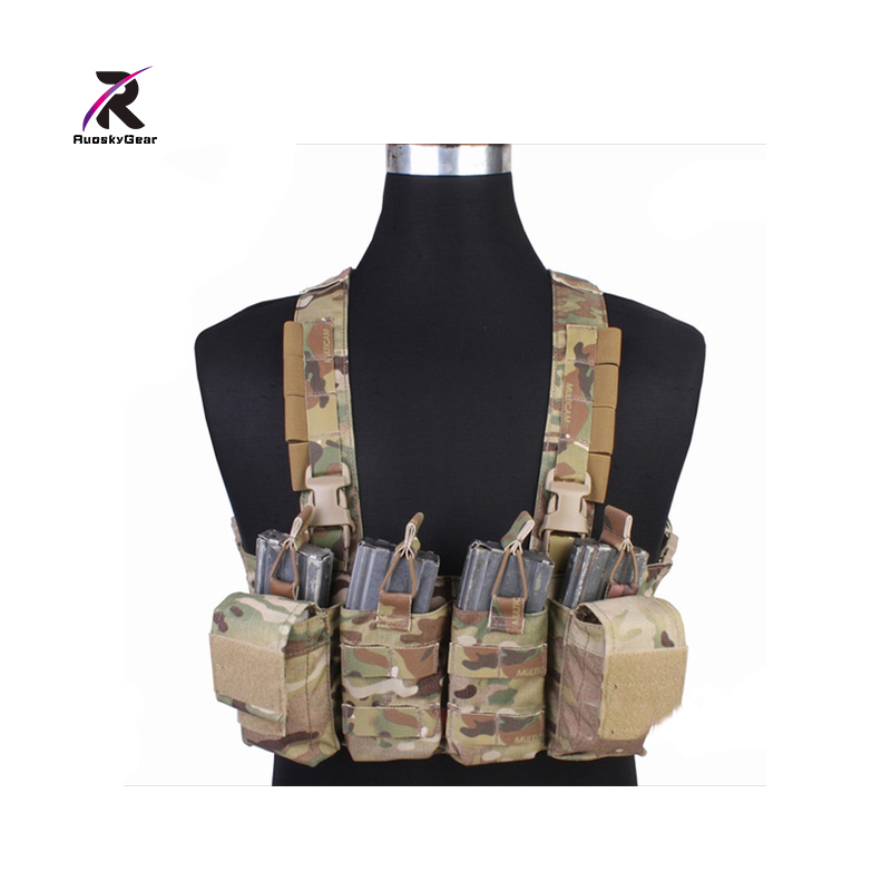 Airsoftsports Tactical Ammo Pounch /Guns Easy Chest Rig Multicam Vest  FOR Airsoft MOLLE Military Combat Hunting EM7450 tatonka protection pounch