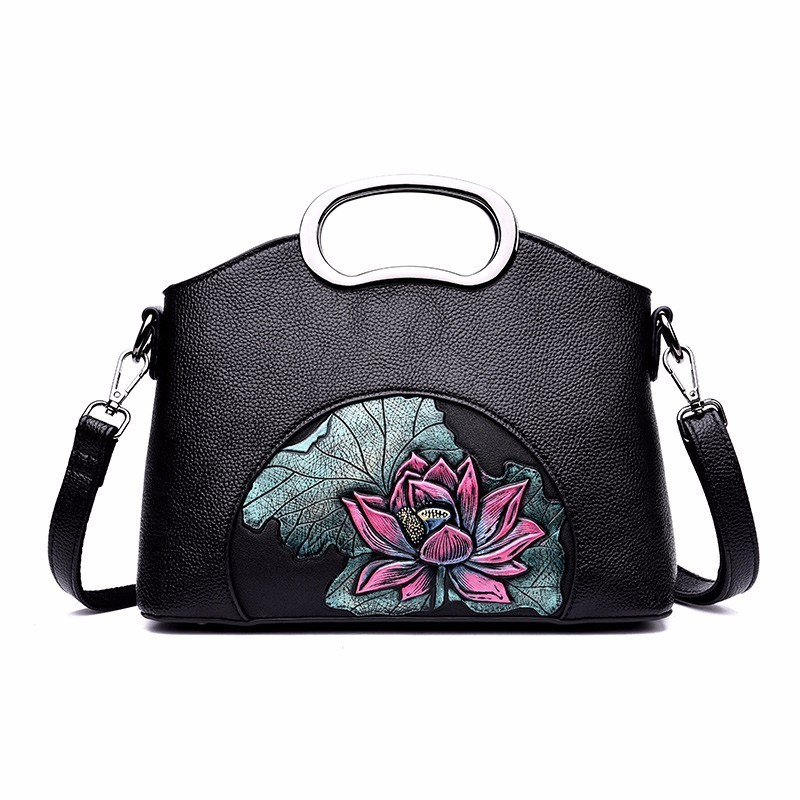 Ladies Tote Handbag Cross Body Bag Flower Design Messenger Bag for Girls Women