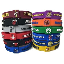 High Quality Basketball Sport Energy Silicone Bangle Bracelet Power Wristband Basketball Team Adjustable Size Wholesale(China)