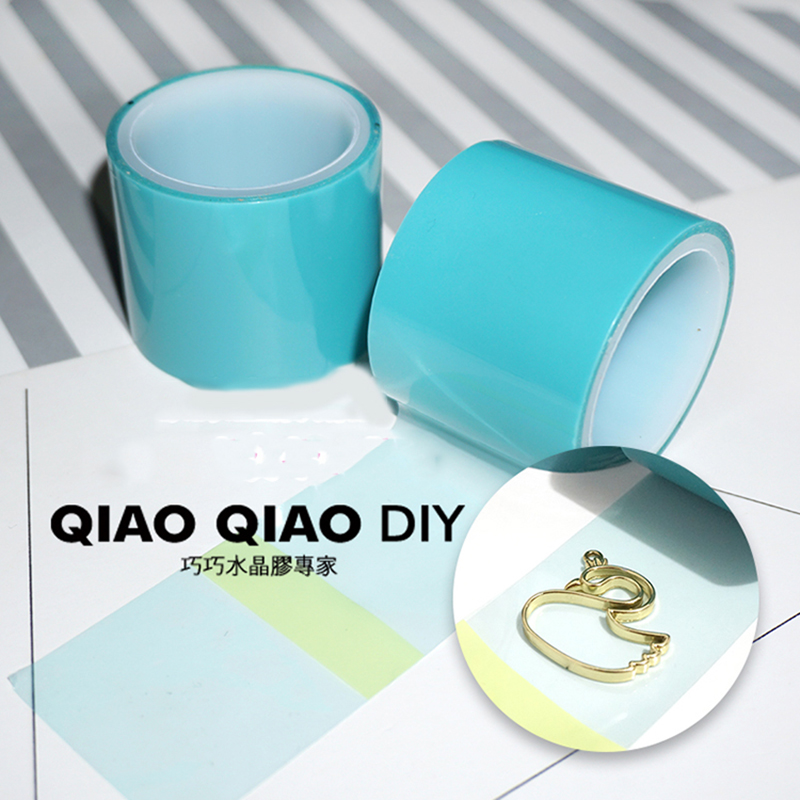 4cm*5m  No Trace Expoy UV Resin Adhesive Paper Tape For Metal Hollow Frame DIY Jewelry Craft Open Bezel Setting Helper Tool Char