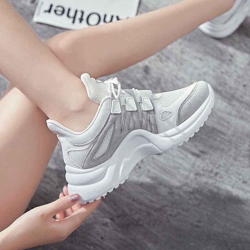 d833520402 ... 2019 filas Zapatos Zapatillas de deporte Zapatos de las mujeres  Zapatillas de deporte Fandei libre transpirable ...