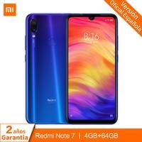 Global Version Xiaomi Redmi Note 7 4GB 64GB Mobile Phone Snapdragon 660 48MP+13MP AI Dual Cameras 6.3'' Full Screen 4000mAh OTA