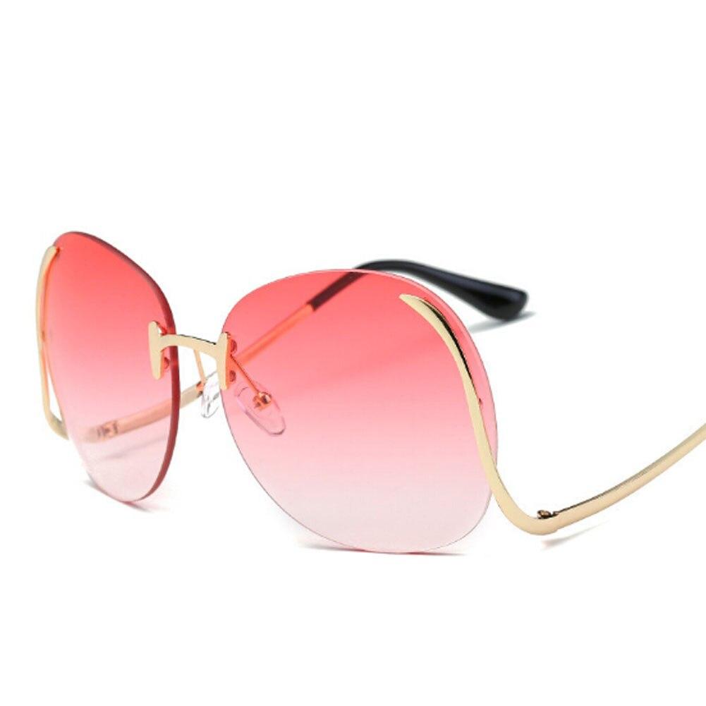 46822331079d2 Frameless Curva Da Perna Óculos De Sol Das Mulheres Dos Homens Da Marca 2017  Design Colorido Oceânica Espelho UV400 Óculos de Sol Oculos de sol Feminino