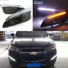Qualité ultra lumineux et étanche 12 V voiture DRL Daytime running light lumière de brouillard avec clignotants pour Chevrolet AVEO 2011 – 2013