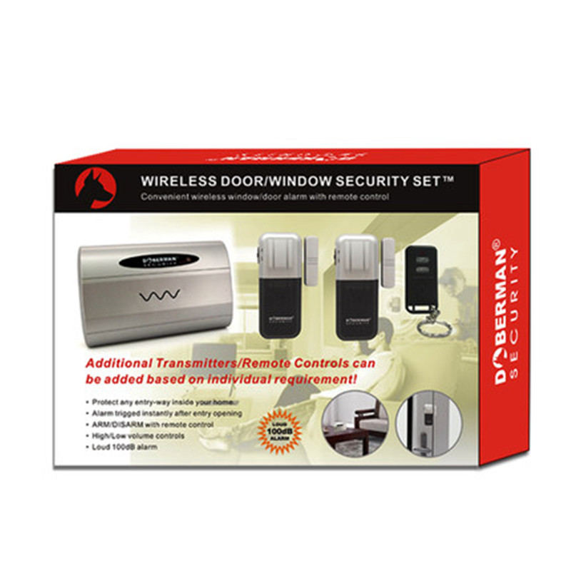 Doberman Security Door Window Alarm Magnetic Sensor Triggered Alarm Home Alert Long Distance 100dB Strong Loud Alarm Sound