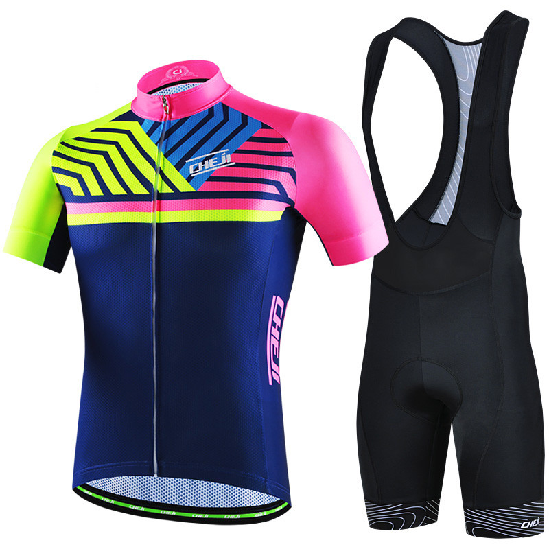 Cheji Men Cycling Jersey Ropa Ciclismo Pro Racing mtb Bicycle Cycling Clothing Short Sleeve Bike Jersey Clothes Maillot Ciclismo cheji team women cycling jersey bike ropa ciclismo bicycle outdoor sportwear short sleeve clothing shorts set dot pink