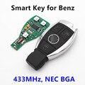 3 Botones Smart Car Auto Control Remoto 433 MHz Clave Para Mercedes Benz año 2000 + estilo de NEC y BGA