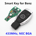 3 Buttons Car Smart Key Auto Remote Control 433MHz For Mercedes Benz year 2000+ NEC&BGA style