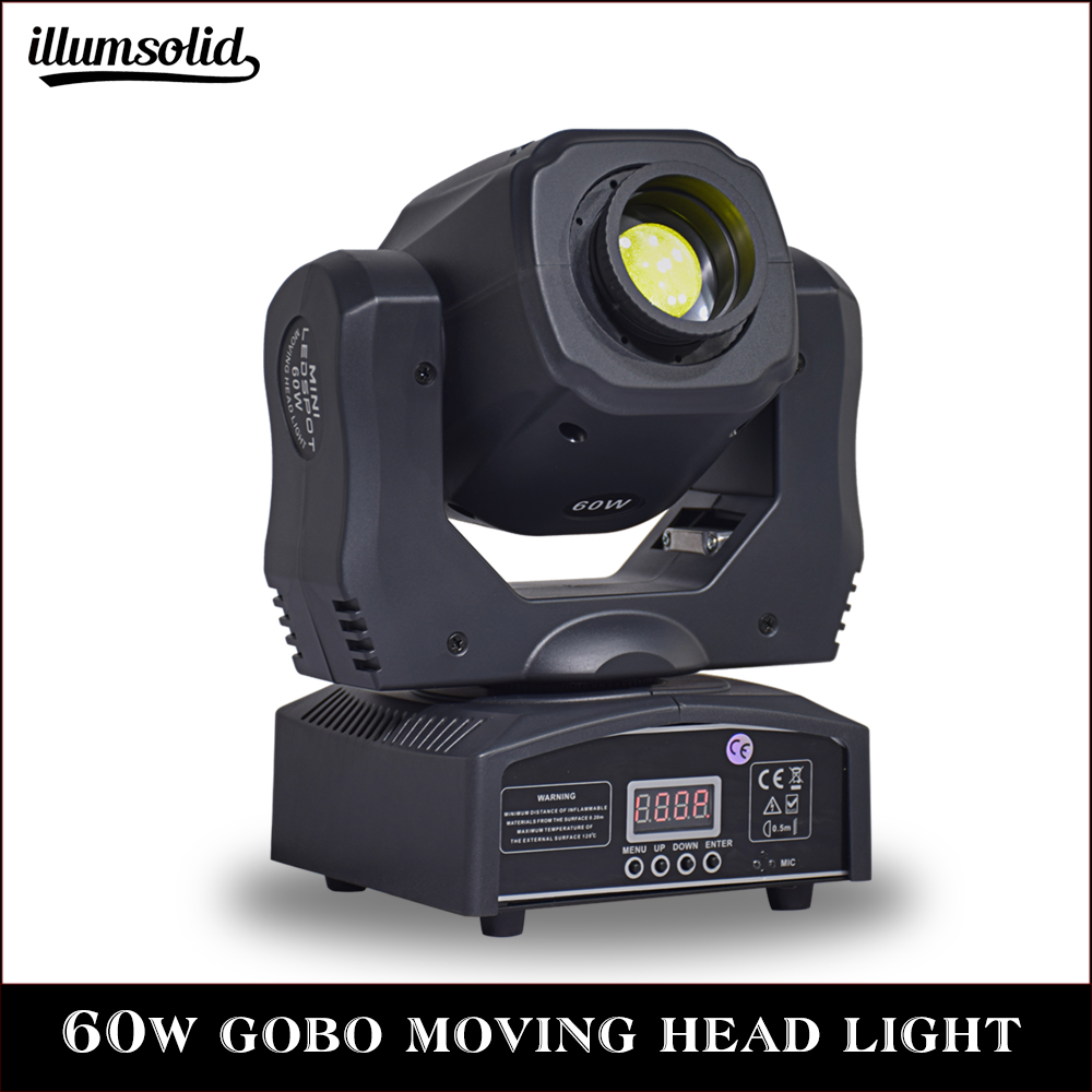 1Pcs Spot 60W LED Moving Head Light With Gobos High Brightness DMX512 DMX 11 Channels Professional Led Stage Light