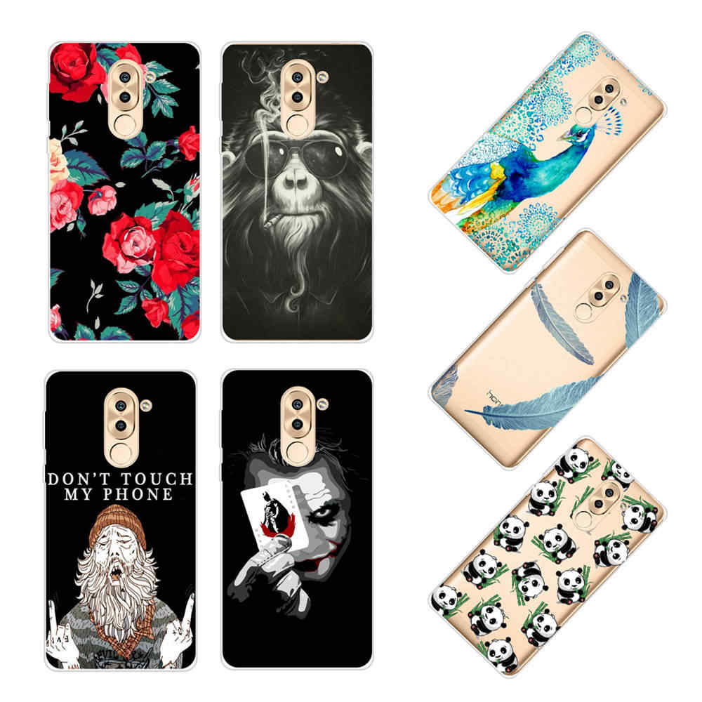 Soft Silicone Case For Huawei GR5 2017 Case 5.5 Inch Cute Cartoon Transparent TPU Back Cover For Huawei GR5 2017 Cover Bumper