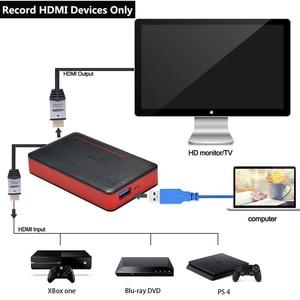Image 4 - 4K فيديو بطاقة التقاط الصوت والفيديو USB3.0 HDMI فيديو المنتزع سجل صندوق ل PS4 لعبة دي في دي كاميرا تسجيل كاميرا بث مباشر 1080P 60Hz