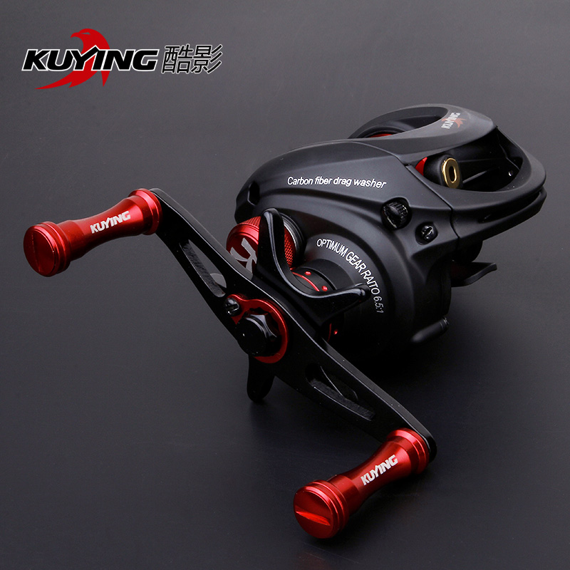 KUYING THUNDER 176g SuperLight Lure Fishing Reel Vessel Water Drop Wheel Coil Left Right Handed For Bait Casting Shallow Spool  hot sale brand fishing reel 8 ball bearings fishing gear water drop wheel right left hand bait fishing reel lure reel