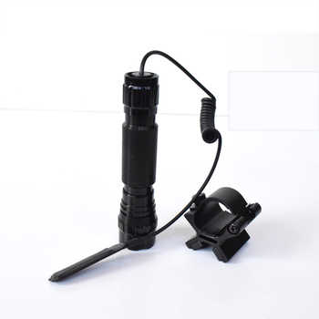 1 Mode Green LED Tactical Flashlight Hunting Torch 18650 lanterna + Gun Mount Holder Lighting Accessories Strong Dual Magnetic X