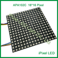 16x16 dot Matrix Led Módulo MCU Display LED flexíveis APA102 Controle