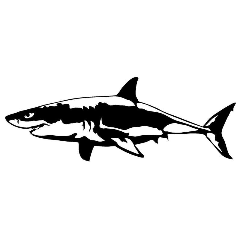 17.1*6.4 см большой белой акулы винила тела Крышка царапин наклейки животных для мотоциклов Аксессуары для авто С6-0616