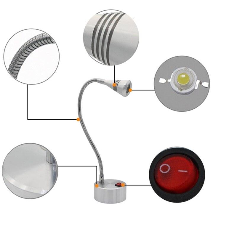 Portable Exhibition Cabinet : Flexible tube emergency portable aaa battery w w led spot lamp
