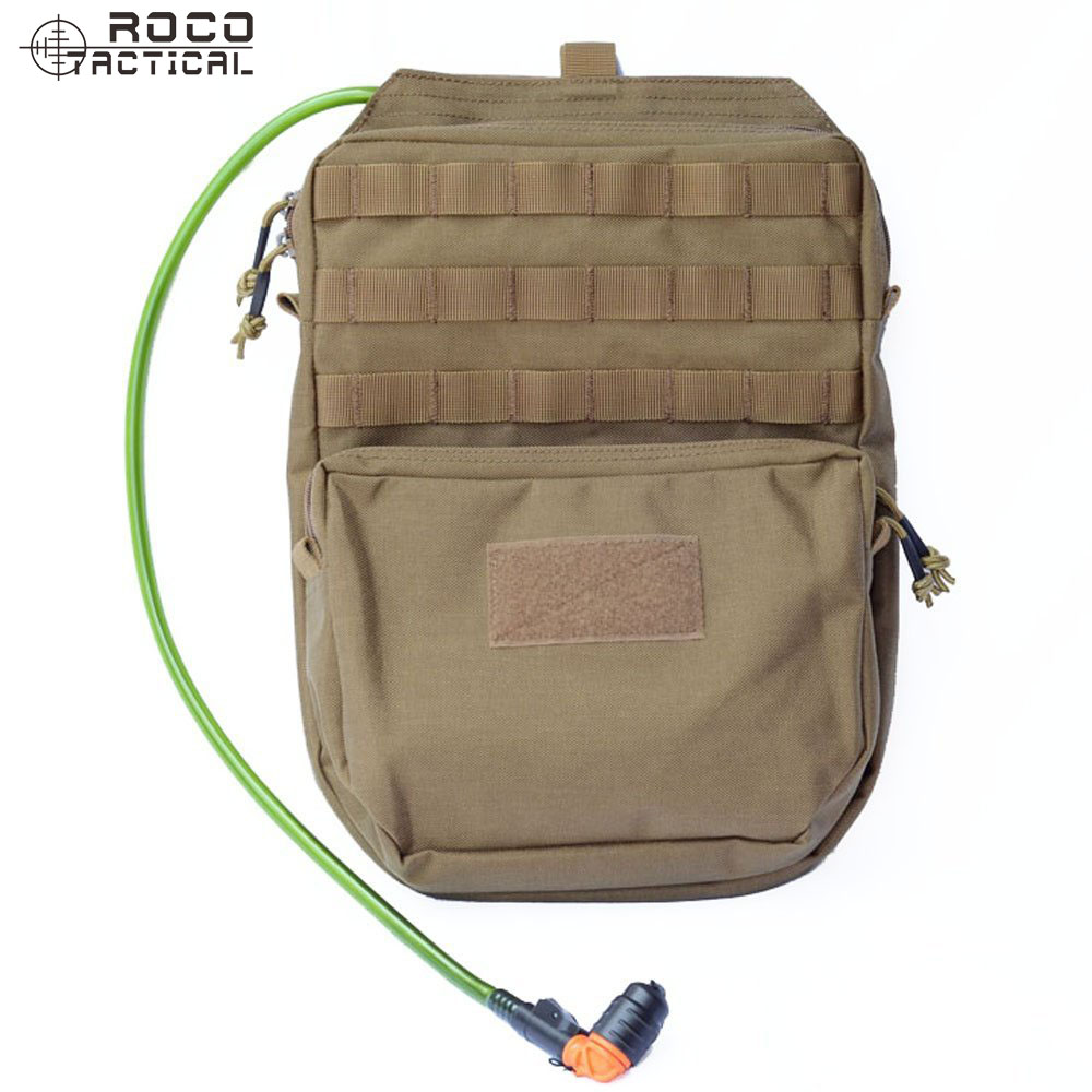 ROCOTACTICAL MOLLE Hydration Backpack 3L Military Travel Hydration Pack 3L Water Pack (Bladder is not included) Coyote Brown