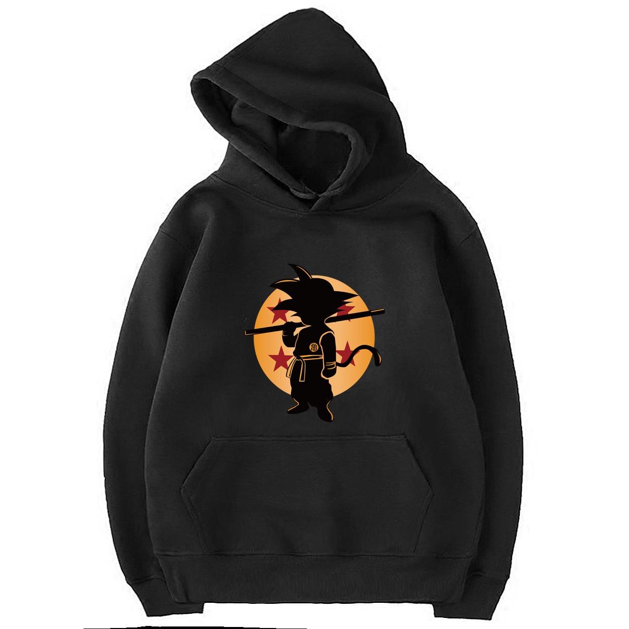 autumn winter long Sleeve pullovers Men Dragon Ball Z high quality hoodies for Man Cartoon hipster fitness sweatshirt 2019 S-XXL