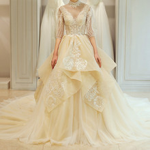 China Custom Made Wedding Full Dresses Bride Backless