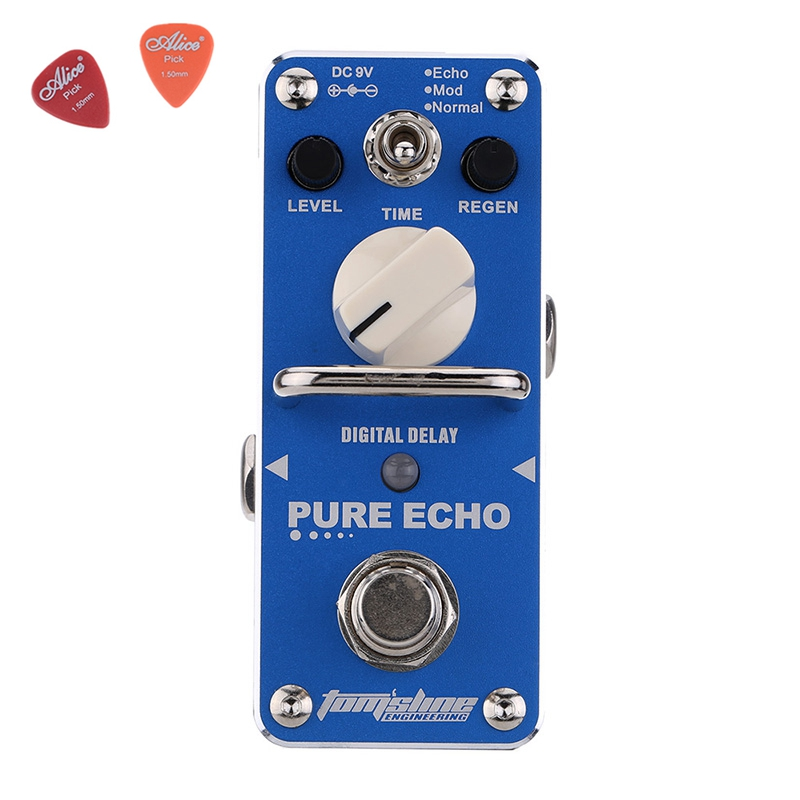 Aroma APE-3 Pure For Echo Digital Delay Electric Mini Digital Guitar Effect  Pedal   With True Bypass Aluminium Alloy aov 3 ocean verb digital reverb electric guitar effect pedal aroma mini digital pedals with true bypass guitar parts