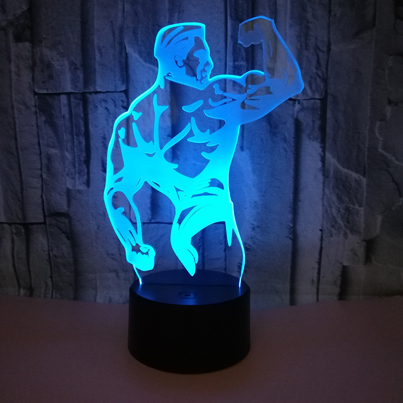 Excavator 3D Illusion Night Light Color Change Touch Switch Table Desk LED Lamp