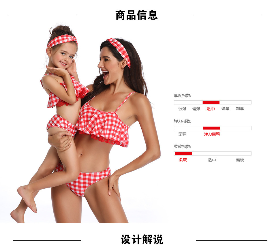 869ea2f99cce7 Mother Daughter Swimsuits 2019 Family Matching Stripe Print Swimwear Sets  Mom And Daughter Beach Sexy Bikini Clothes Holiday