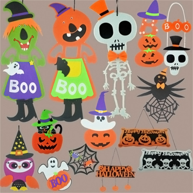 halloween pumpkin bats hang halloween props skulls hanging witch cobwebs ghost professional factory price drop shipping