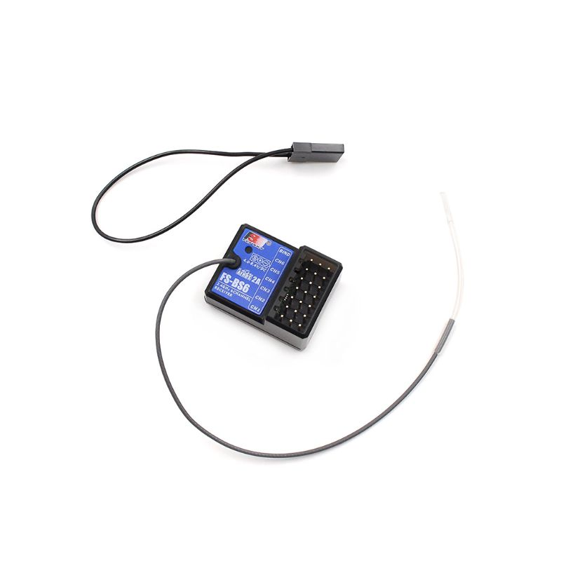High Quality New 2.4G 6CH FS-BS6 RC Receiver Built-in Gyro Fail-Safe For FS-GT5 FS-IT4S Transmitter Racing Car Boat