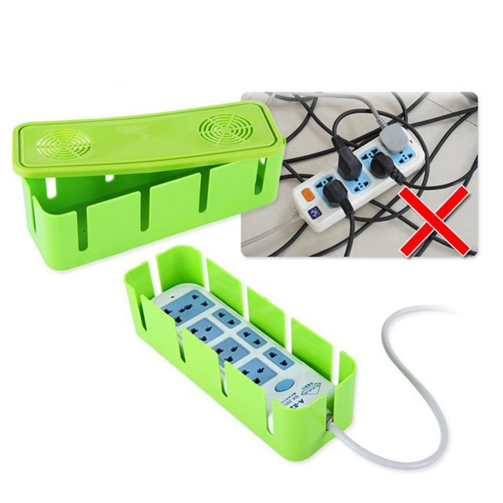 Power Strip Cord Socket Storage Boxes Organizer Safety Socket Outlet Board Container Cab ...