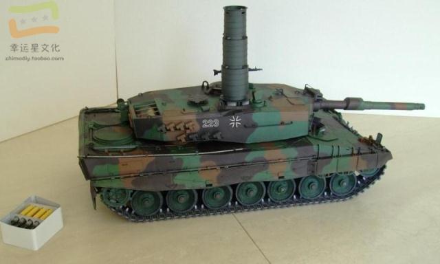1:16 Leopard 2A4 Main Battle Tank Military Model 3D Paper Model DIY Handmade Paper Mould Display Toy