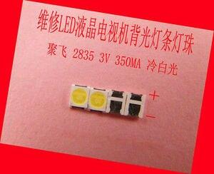 Image 1 - 400 Stuks 2835 3528 Smd Lamp Kralen 3V 350mA Voor Led Tv Reparatie Koude Wit Licht 100% Nieuwe
