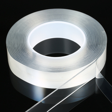 Washable Traceless Double-sided Adhesive Nano Tape Reusable Silicone Stick to Glass Metal Kitchen Cabinets or Tile