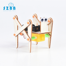 купить SZ STEAM Electronic Crawling Robot Dog Toys For Kids DIY Assembled Model Technology Science Experiment Educational Toy For Child дешево