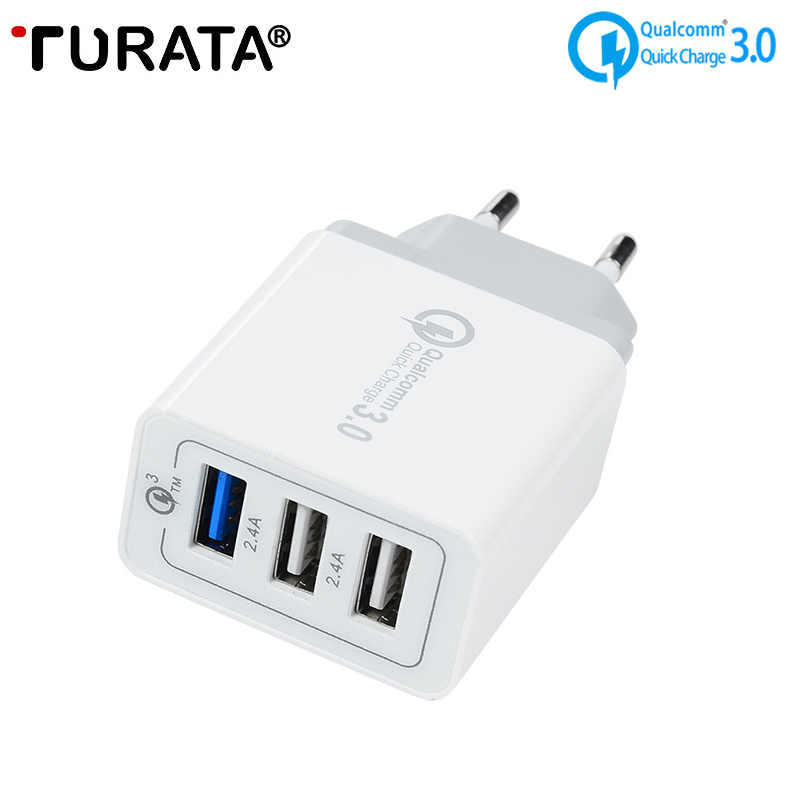 TURATA QC 3 0 USB Wall Charger Universal Quick Charge 3 0 30W Fast Mobile Phone