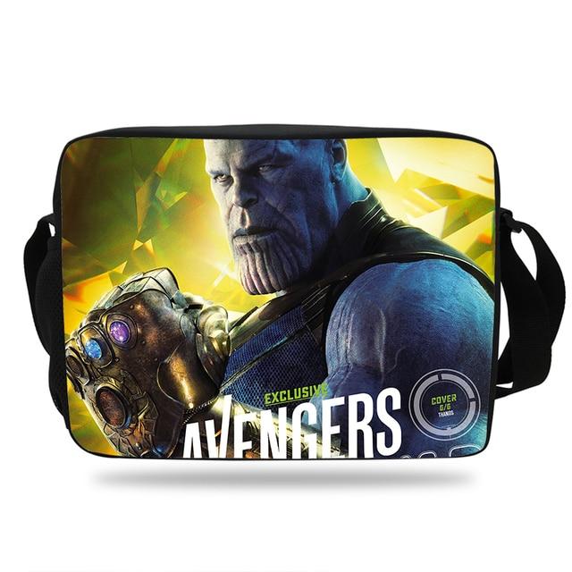e18604748606 The Avengers Infinity War Printing School Shoulder Messenger Bag For Kids  Boys Girls Thanos Print Shoulder Bag For mens womens