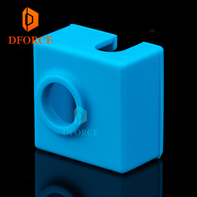 DFORCE Super high quality cartridge heater bock silicone socks MK9 for heated block hotend I3 CR10 nozzle
