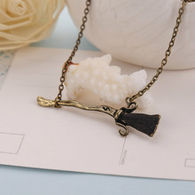 CUTEECO Potter Deathly Hallows Necklace Goblet of Fire Alloy Magic Wand Pendant for Men Women Jewelry Gift