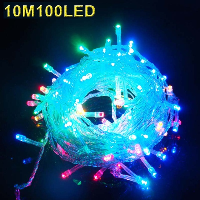 10M 100 LED Strip Light Home Outdoor Holiday Christmas Decorative Wedding Xmas String Fairy Garlands Strip Party Lights Z30