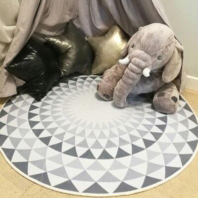 Nordique moderne minimaliste géométrique tapis étude tapis de sol rond chambre salon suspendu panier chevet ordinateur coussin