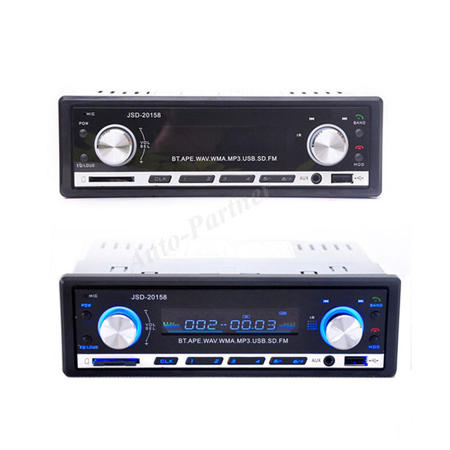 2017 Автомобильный MP3 Новый 12 В 20158 BLUETOOTH 1-Din Стерео Радио MP3 USB/SD AUX Аудио Плеер Автомобиля в Тире 60Wx4 для телефона
