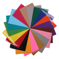 Sunice 50cm x 30cm PVC Wärme transfer vinyl Multi farbe Wärme Presse Vinyl Eisen auf PVC t Shirt Garment Textil Film| |   -