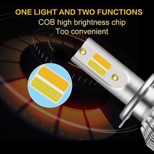 Image 5 - 2 個超高輝度車のヘッドライト電球 H1 led H3 H4 H7 H1 led 3000 18k 6000 18k ダブルカラーヘッドランプ H8 H9 H11 9005 9006 HB3 HB4 880
