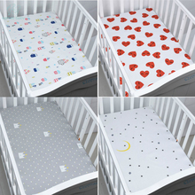 EGMAO BABY Organic Cotton Fitted Baby Crib Sheet Soft Cover Bedspread Knitting Bedding Protector For Boys Girls 130cm*70cm