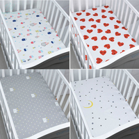 EGMAO BABY Organic Cotton Fitted Baby Crib Sheet Soft Cover Bedspread Knitting Bedding Protector For Boys