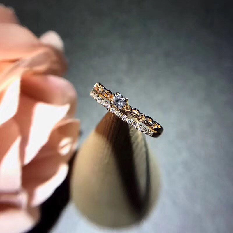 ANI 18K Rose Gold (AU750) Women Wedding Ring Certified H/SI 0.187 Carat Diamond Ring Custom for Women Engagement Fine Jewelry