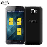Three SIM Card Original Phone S6 4 6 Quad Band Mobile Phone GSM WIFI Bluetooth Support